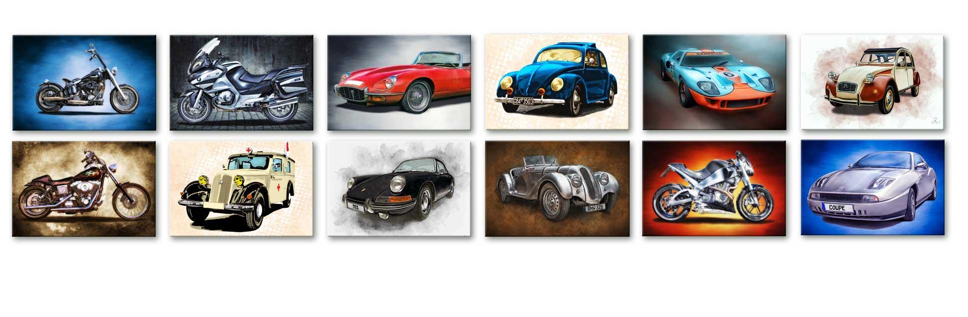 Porsche 911 s, Bild auf Leinwand, Geschenk, Gemälde Stil, Bild auf Leinwand, Edition