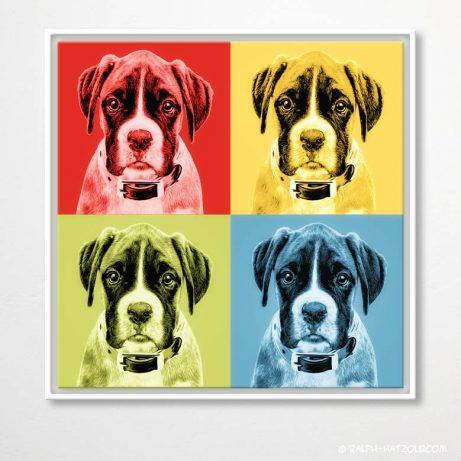 Hund Pop Art Portrait vom eigenen FotoBoxer
