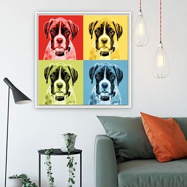 Foto Pop Art von Deinem Hund, Boxer