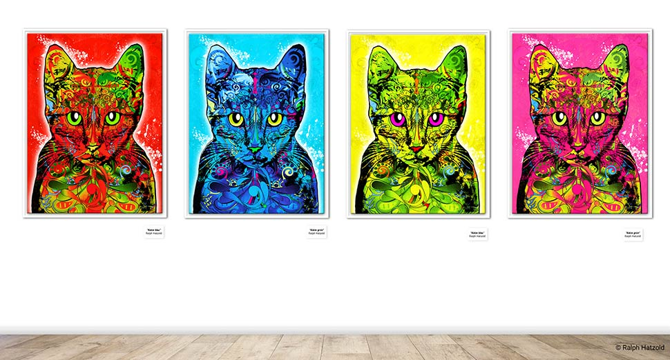Katzenportaits, Katze Pop Art, Pop Art Edition, Andy Warhol had no Cat
