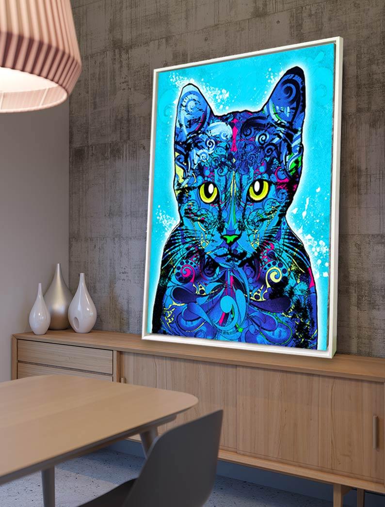 Katzenbild-pop-art-bild-auf-leinwand-ralph-hatzold