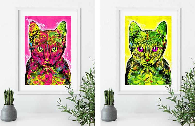 Katzenbilder-pop-art-bild-gerahmt-ralph-hatzold02