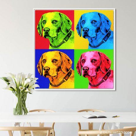Geschenkidee Hund und HundebeitzerBeagle Pop Art Hund, Pop Art Beagle, Beagle Bild, Foto Pop Art Beagle