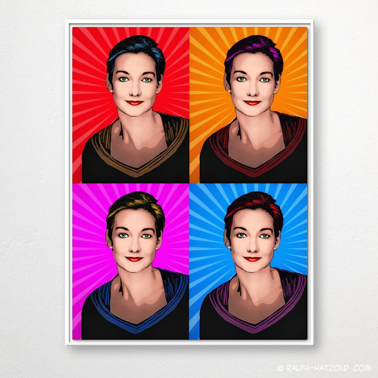 Pop Art Portrait Lichtenstein, Comic Pop Art, Raumteiler Pop Art