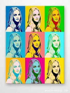 foto pop art Geschenk, foto pop art Portrait von Ihrer Vorlage