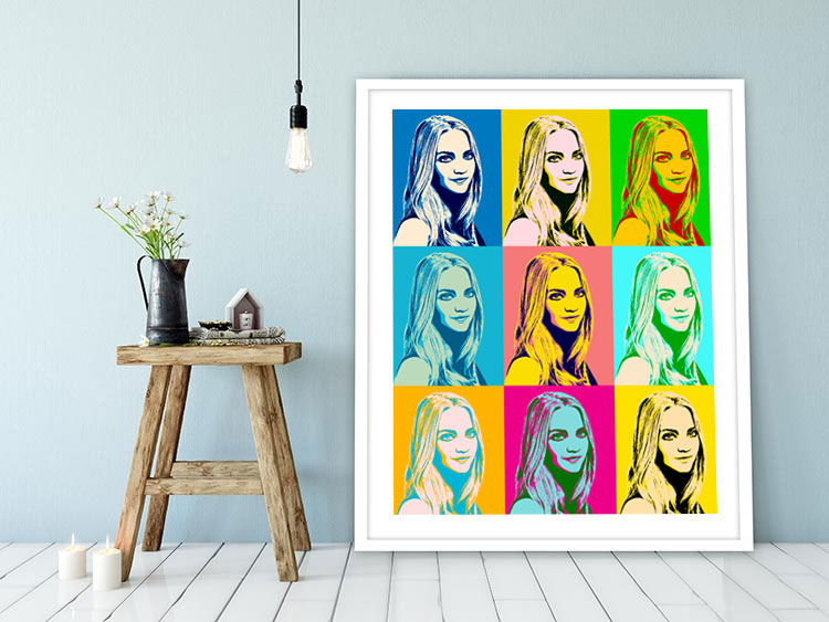pop art vom eigenen foto portraits auf leinwand oder als poster. Black Bedroom Furniture Sets. Home Design Ideas