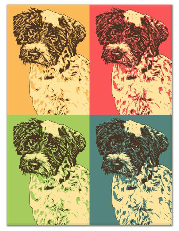 hunde portrait auf leinwand Andy Warhol