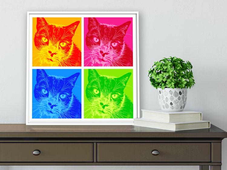 Katzenbilder Katzen Pop Art Andy Warhol bunte Katzen