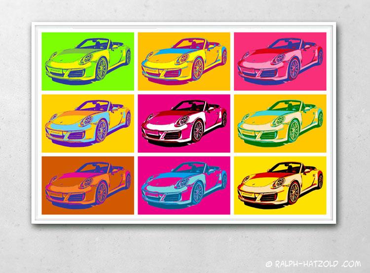 porsche 911 carrera s Bilder Pop Art für die Wand