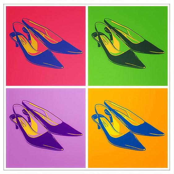 Prada Schuhe Kunst Bilder pop art