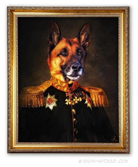 Deutscher Schäferhund Portrait auf Leinwand Geschenkidee Hundebesitzer