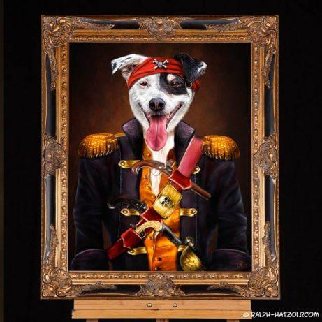 Hund Igor Sat1 gewinner in Piratenkleidung Pirat Igor Geschenk für Hundebesitzer