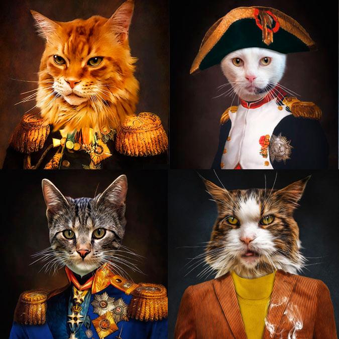 Katzen in Kleidung Katze im Stil alter Gemälde Geschenk für Katzen und Katzenbesitzer