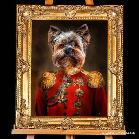 Yorkshire Terrier in Uniform Geschenkidee Bild