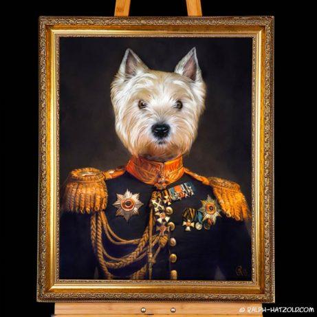West Highland White Terrier Hundeportrait West Highland White Terrier Geschenkidee für Hundebesitzer Paul vom Spitzhaus