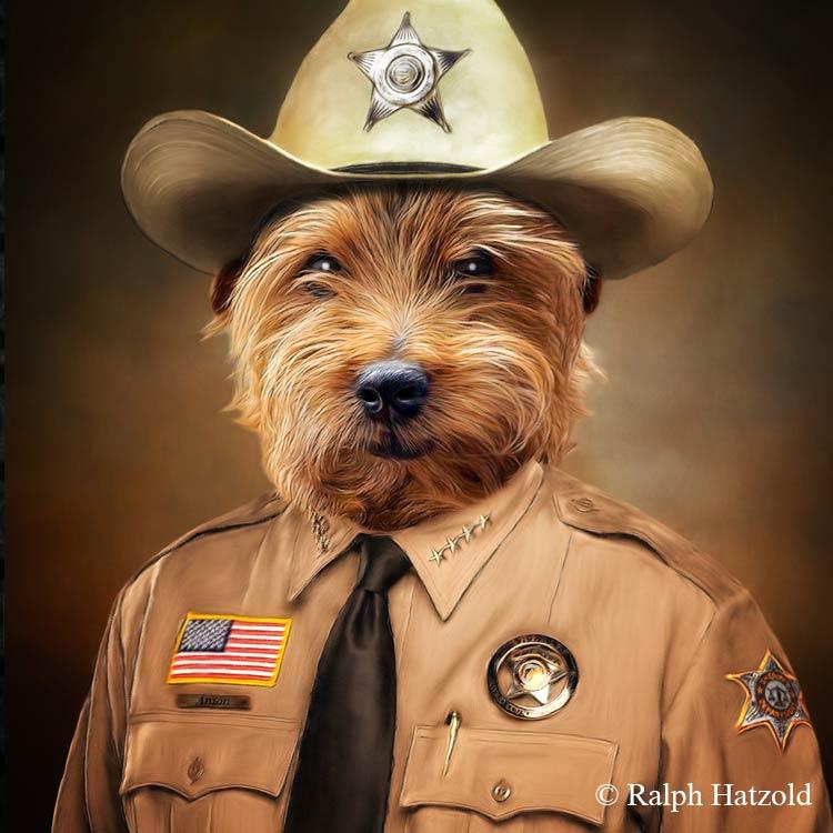 Individuelles Hunde Portrait in Uniform