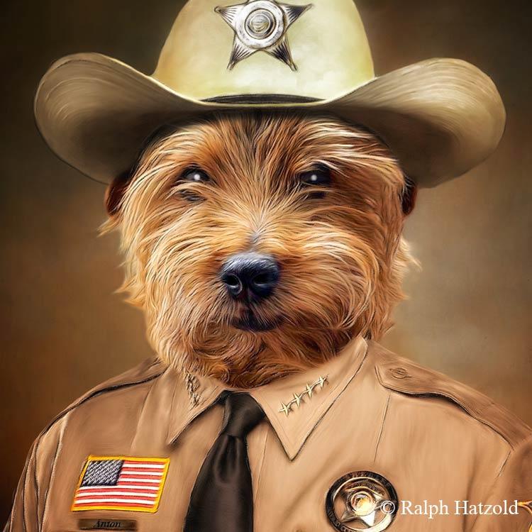 Sheriff Anton, Hund in Polizeiuniform